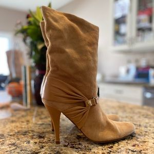Cole Haan tan booties | Suede & Leather Size 8.5